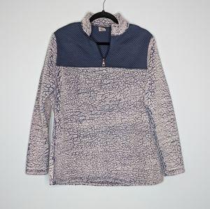 Fleece Fuzzy Pullover Half Zip Sweater